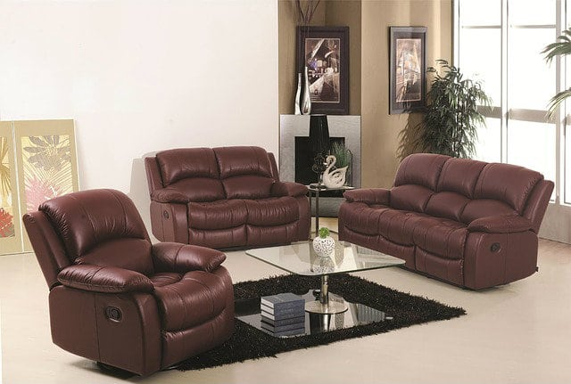sofa, three pc sofa, leather sofa